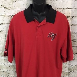 Adidas Red Tampa Bay Buccaneers Polo Shirt